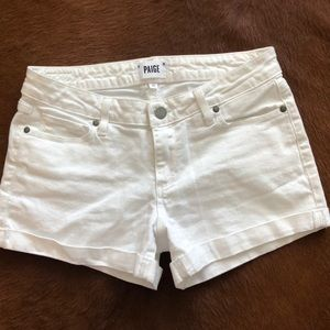 Paige Jimmy Jimmy White Jean Shorts